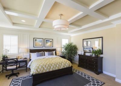 Master Bedroom Box-beam Ceiling Repaint, Oakland