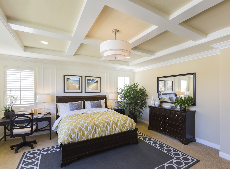 Master Bedroom Box Beam Ceiling Repaint Oakland