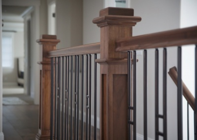 Stained and Lacquered Hand Rail Pleasanton