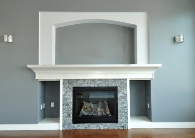 Fireplace Mantle and Accent Wall, Diablo